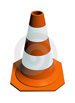 Traffic Cone Orange Royalty Free Stock Photos - Image: 9564688