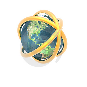 Satelite Sputnik Orbiting Earth Royalty Free Stock Photos - Image: 9571288