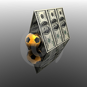 100 Usa Dollars House Roof Stock Image - Image: 9571321