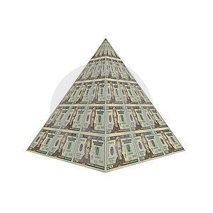Dollar Pyramid Stock Photo - Image: 9571960