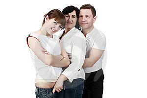 Hugging Relatives Stock Photos - Image: 9573333