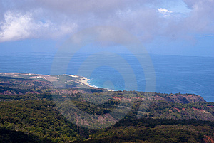 Looking Out To Sea From Above Royalty Free Stock Images - Image: 9574949
