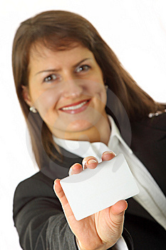 Professionals White Business Card Royalty Free Stock Images - Image: 9578489