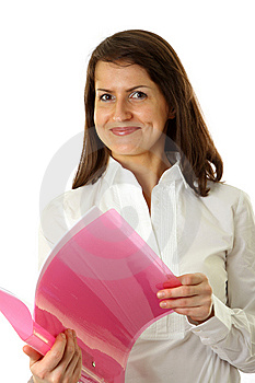 Smiling Young Business Woman Stock Image - Image: 9578501