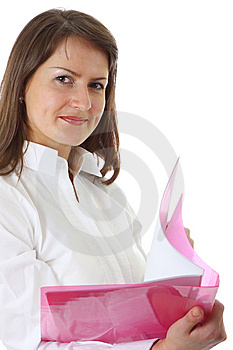 Smiling Young Business Woman Stock Image - Image: 9578521