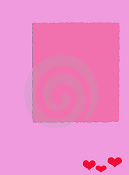 Hearts On Pink Royalty Free Stock Photography - Image: 9580227