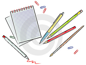 Office Supplies (Vector) Royalty Free Stock Photography - Image: 9580487