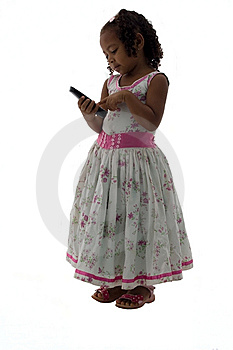 Little Girl Making A Phone Call Stock Photography - Image: 9580672
