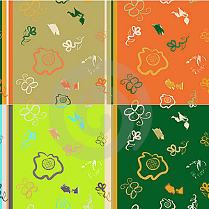Seamless Pattern Imitation Of Children's Drawings Royalty Free Stock Photography - Image: 9581067