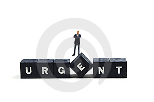Urgent Matters Stock Photo - Image: 9581180