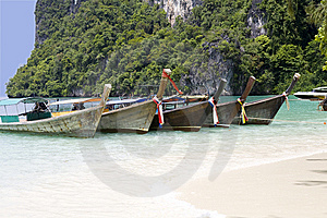 Wooden Boats On The Beach Royalty Free Stock Photos - Image: 9581488