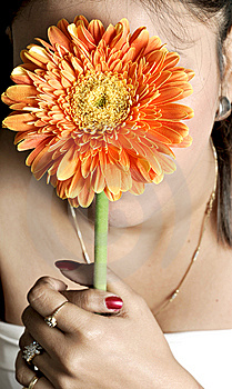 Holding Flower Royalty Free Stock Image - Image: 9582846