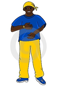 Hip Hop Guy Royalty Free Stock Photography - Image: 9584367