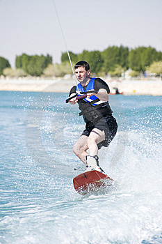 Wakeboarder In Action Stock Photography - Image: 9585392