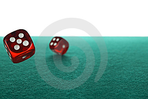 Dices Rolling Stock Photography - Image: 9590272