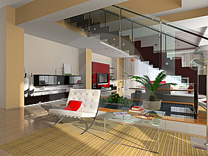 Modern Interior Of The Room Royalty Free Stock Image - Image: 9590416