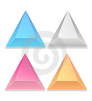 Triangular Iconsbutton, Triangular Icons Stock Photography - Image: 9590982