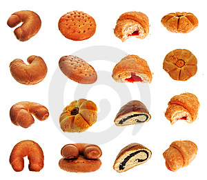 Buns set Royalty Free Stock Photos