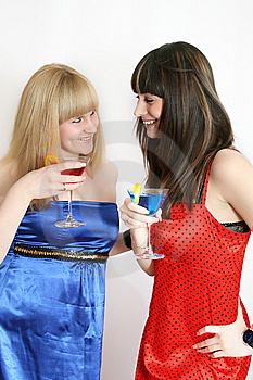 Two Pretty Friends With Cocktail Stock Photos - Image: 9592513