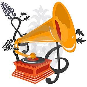 Gramophone Stock Photo - Image: 9592840
