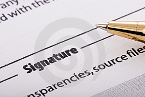 Pen Signing Form Stock Images - Image: 9593204
