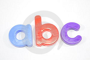 ABC Refrigerator Magnets Stock Images - Image: 9594864