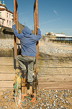 Boy On Ladder Royalty Free Stock Photos - Image: 9594898