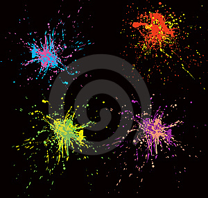 Colorful Splatters Stock Photo - Image: 9594930