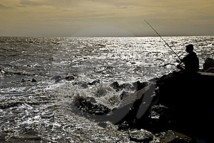 Sunset Fishing Stock Photos - Image: 9595083