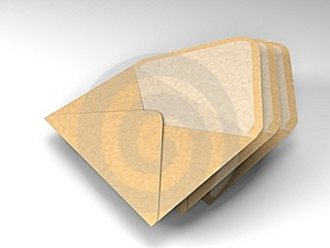 Three Envelopes For Mail Royalty Free Stock Image - Image: 9598736