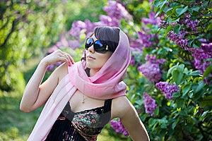 Tender Girl In The Garden Royalty Free Stock Photo - Image: 9599095
