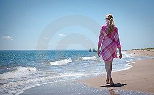 Woman On The Beach Stock Photo - Image: 9599180