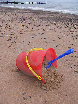 Bucket and Spade Royalty Free Stock Image