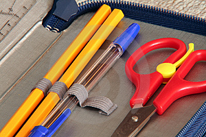 Scissors And Pen Royalty Free Stock Photos - Image: 963868