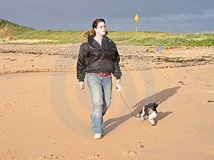 Walking The Dog Royalty Free Stock Image - Image: 964566