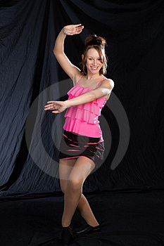 Jazz Dancer In Pink Stock Images - Image: 967824
