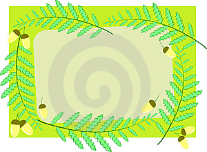 Acorns And Ferns Royalty Free Stock Photography - Image: 9602787
