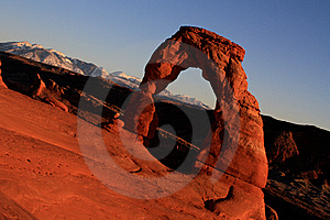 Delicate Arch Angled Royalty Free Stock Images - Image: 9603259