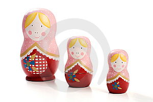 Family Of Three Russian Dolls Royalty Free Stock Image - Image: 9604156