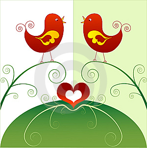 Birds In Love Royalty Free Stock Photography - Image: 9605437