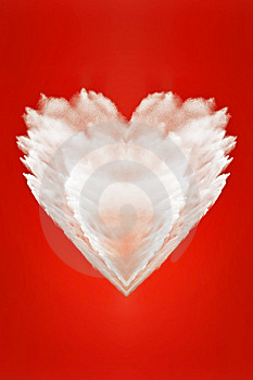 Big Fluffy White Heart Of Love Stock Photos - Image: 9607173