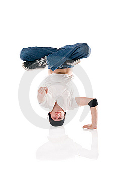 Breakdancer Pointing At You! Royalty Free Stock Image - Image: 9608056