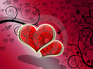 Vectorial Hearts Stock Images - Image: 9608584