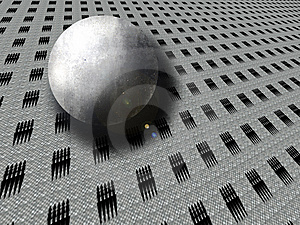 A Stone Sphere Rolls Stock Photos - Image: 9608813