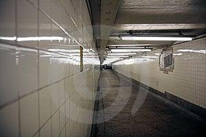 Tiled Walls Of A Subway Entrance Royalty Free Stock Photos - Image: 9609358