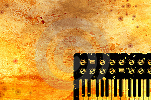 Grunge Music Keyboard Background Royalty Free Stock Photography - Image: 9609547