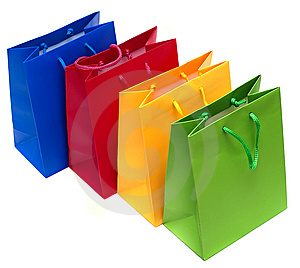 Shopping bags isolated Royalty Free Stock Image
