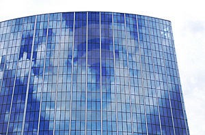 Reflection Of Sky On A Skyscraper's Windows Stock Photos - Image: 9609943