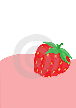Strawberry In Yoghurt Royalty Free Stock Photos - Image: 9610228