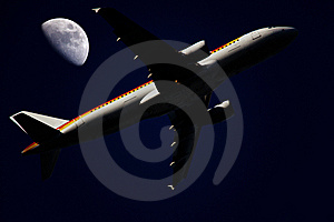 Flying In The Night Royalty Free Stock Photos - Image: 9611768